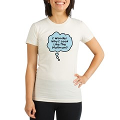 Look Like The Mailman (b) Organic Women's Fitted T-Shirt