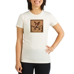 joey roo unlettered.jpg Organic Women's Fitted T-Shirt