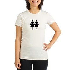 Gay Pride Women Organic Women's Fitted T-Shirt