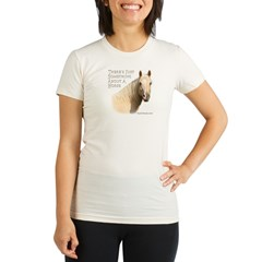 Something About A Horse Organic Women's Fitted T-Shirt