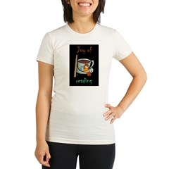 &quot;Joy of reading&quot; Organic Women's Fitted T-Shirt