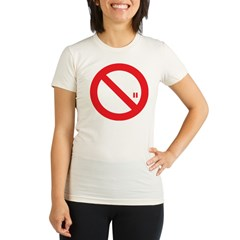 Classic No Smoking Organic Women's Fitted T-Shirt
