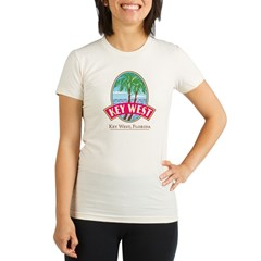 Retro Key West - Organic Women's Fitted T-Shirt