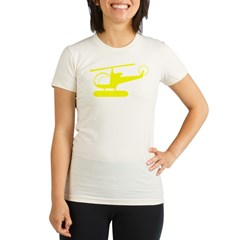 Helicopter Organic Women's Fitted T-Shirt