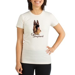 German Shepherd Dog-1 Organic Women's Fitted T-Shirt