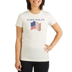 Gary Nolan (american flag) Organic Women's Fitted T-Shirt