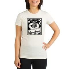 Zombies / Delicious Brains Organic Women's Fitted T-Shirt
