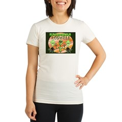 ROSWELL.bmp Organic Women's Fitted T-Shirt