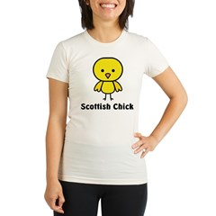 Scottish Chick Organic Women's Fitted T-Shirt