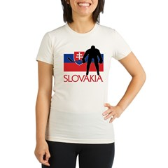 Slovak Hockey Organic Women's Fitted T-Shirt