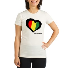 Rasta Hear Organic Women's Fitted T-Shirt
