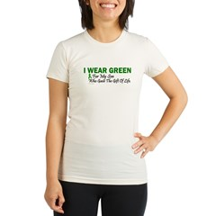 Green For Son Organ Donor Donation Organic Women's Fitted T-Shirt
