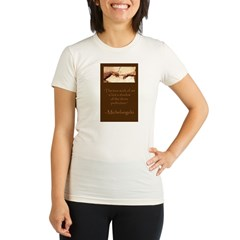 "Michelangelo's ""Genesis - The Creation of Adam"" - Organic Women's Fitted T-Shirt"