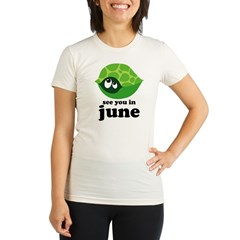 June Baby Due Date Organic Women's Fitted T-Shirt
