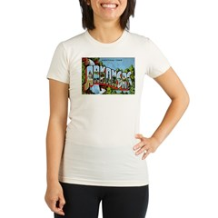 Arkansas Postcard Organic Women's Fitted T-Shirt