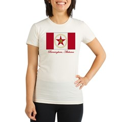 Birmingham AL Flag Organic Women's Fitted T-Shirt