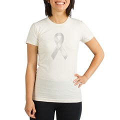 White Ribbon Organic Women's Fitted T-Shirt