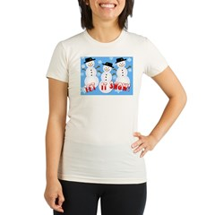 Let it Snow Organic Women's Fitted T-Shirt