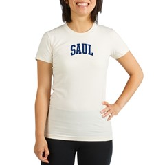 SAUL design (blue) Organic Women's Fitted T-Shirt