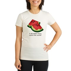 Watermelon Seeds Organic Women's Fitted T-Shirt