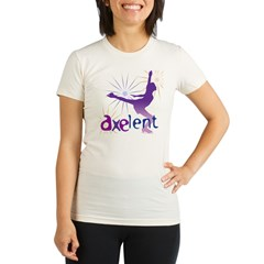 Ice Skating is Axelent Organic Women's Fitted T-Shirt