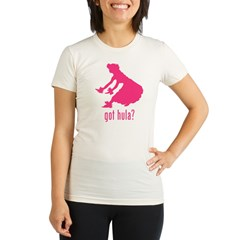 Hula Dancer 2 Organic Women's Fitted T-Shirt