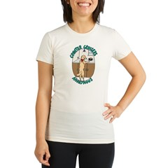 Counter Cruisers Golden Retre Organic Women's Fitted T-Shirt