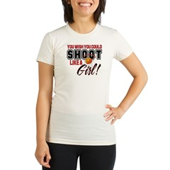 Basketball - Shoot Like a Girl Organic Women's Fitted T-Shirt