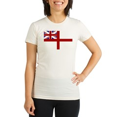 royal navy flag oblong.jpg Organic Women's Fitted T-Shirt