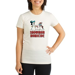 Snowman Homicide Organic Women's Fitted T-Shirt