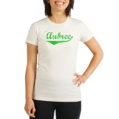 Aubree Vintage (Green) Organic Women's Fitted T-Shirt