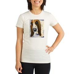 Basset Hound 3 Organic Women's Fitted T-Shirt
