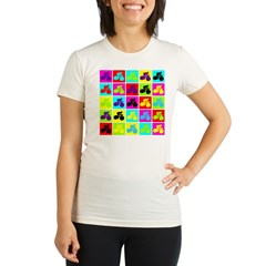 Pop Art Cyclist Organic Women's Fitted T-Shirt