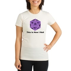 How I Roll Organic Women's Fitted T-Shirt
