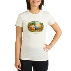 Perla del Mar Cigar Ad Organic Women's Fitted T-Shirt