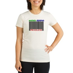 Autistic Children: Priceless Organic Women's Fitted T-Shirt