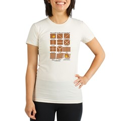 Heraldic Toast Organic Women's Fitted T-Shirt
