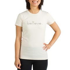 Believe. Organic Women's Fitted T-Shirt