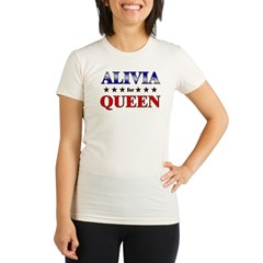 ALIVIA for queen Organic Women's Fitted T-Shirt