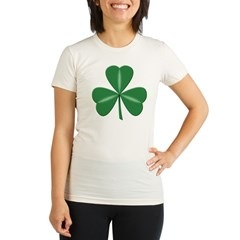 3 Leaf Green Organic Women's Fitted T-Shirt