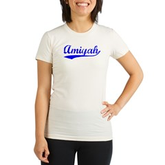 Vintage Amiyah (Blue) Organic Women's Fitted T-Shirt