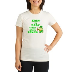 Erin Easy / Drunk (B) Organic Women's Fitted T-Shirt