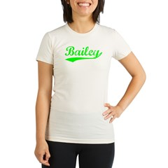 Vintage Bailey (Green) Organic Women's Fitted T-Shirt