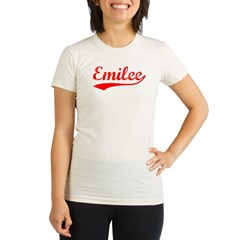 Vintage Emilee (Red) Organic Women's Fitted T-Shirt