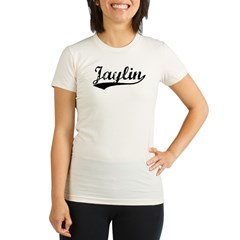 Vintage Jaylin (Black) Organic Women's Fitted T-Shirt