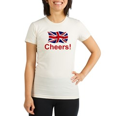 British Cheers! Organic Women's Fitted T-Shirt