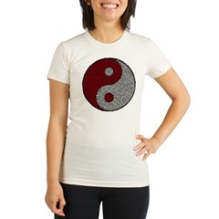 Yin-Yang Organic Women's Fitted T-Shirt