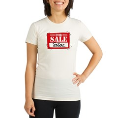 Sister For Sale Organic Women's Fitted T-Shirt
