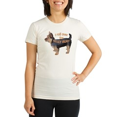 Australian terrier Belly rub Organic Women's Fitted T-Shirt