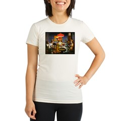 Dogs Playing RPGs! Organic Women's Fitted T-Shirt
